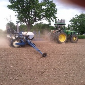 Colin Callan planting black bean seed at our Cameron Road lot, located in Caledonia NY